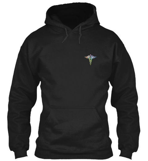 Nurse Hoodie Christmas Special Black T-Shirt Front