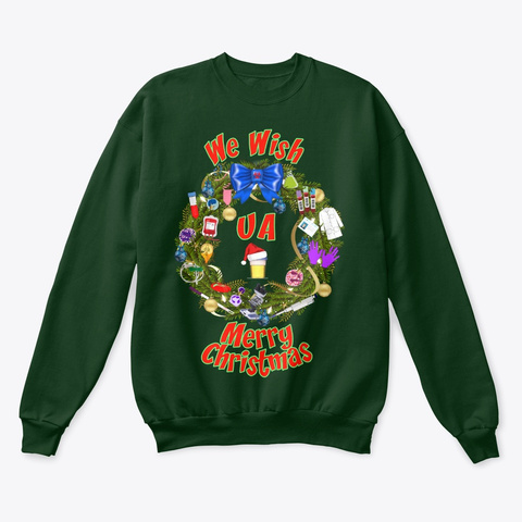 We Wish Ua Merry Christmas! Deep Forest  T-Shirt Front
