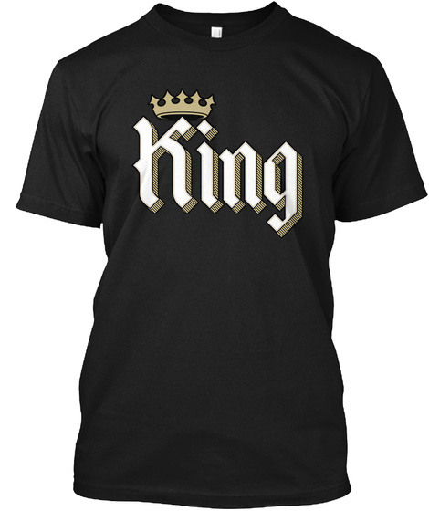 King Black T-Shirt Front