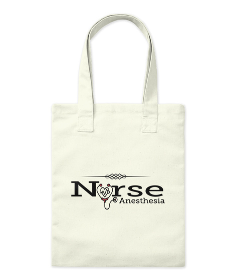 Nurse Anesthesia Natural Tote Bag Front