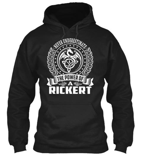 Rickert   Name Shirts Black T-Shirt Front