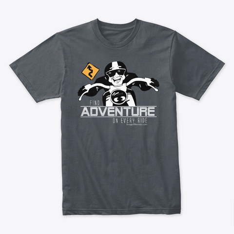 Find Adventure On Every Ride Heavy Metal T-Shirt Front