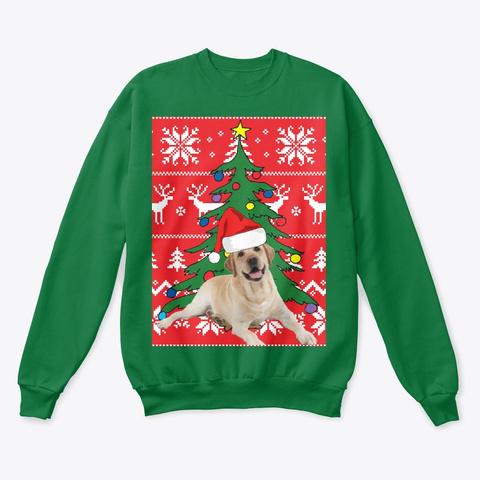 Ugly Dog Christmas Sweaters.Yellow Labrador Dog Christmas