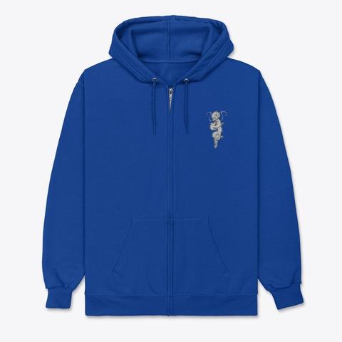 Dragon Zip Hoodie Deep Royal T-Shirt Front