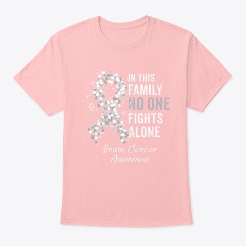 Brain Cancer Awareness Shirt Men Women Pale Pink T-Shirt Front
