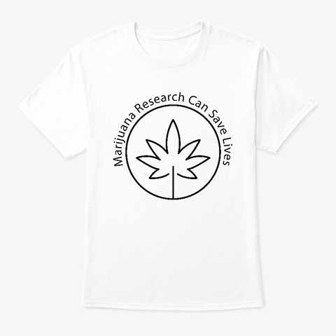 Cannabis Research White T-Shirt Front