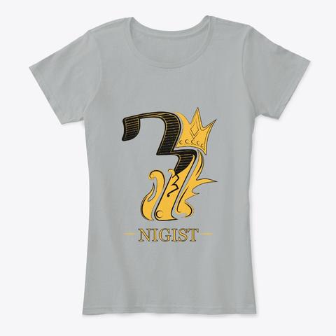 Nigist/Queen  Grey T-Shirt Front