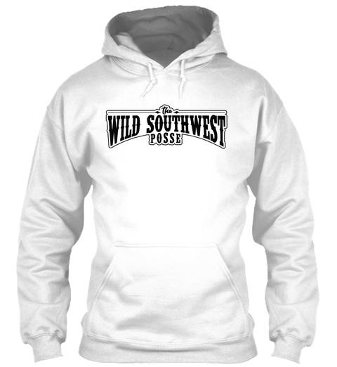 The Wild Southwest Posse Arctic White T-Shirt Front