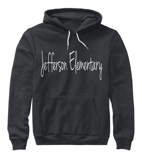 Jefferson Elementary Dark Heather Grey T-Shirt Front