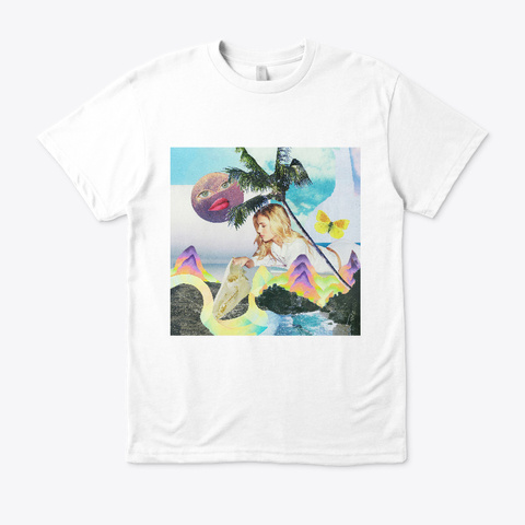 California Girl Collage White T-Shirt Front