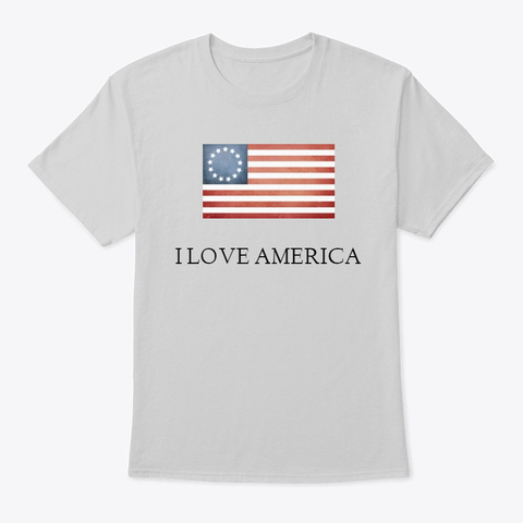 I Love America Clothing Light Steel T-Shirt Front