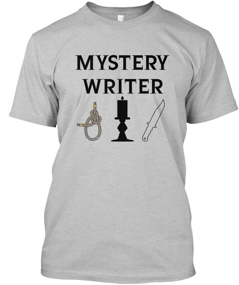 Mystery Writer Light Heather Grey  T-Shirt Front