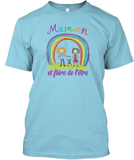 Mamanetfiere Light Blue T-Shirt Front