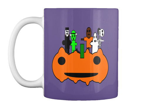 Halloween   Mug Purple T-Shirt Front