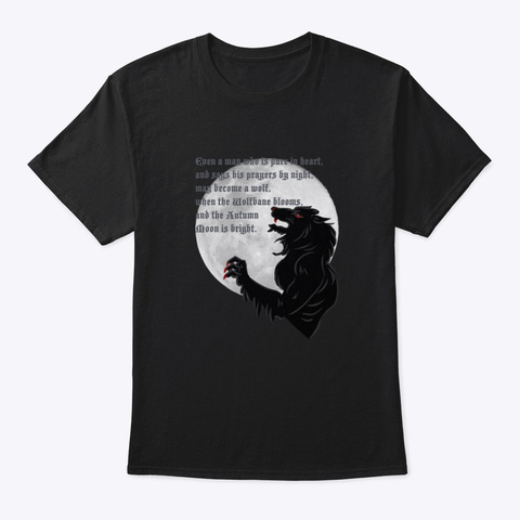 Wolfbane Black T-Shirt Front