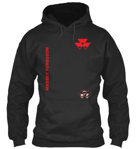 Massey Ferguson Jet Black T-Shirt Front