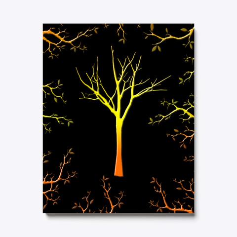 Tree Branch   Wall Art Canvas Black T-Shirt Front