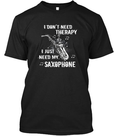 Saxophonist T Shirt Black T-Shirt Front