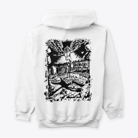 """""""Selective Imaging""""    Hoodie White T-Shirt Back"""