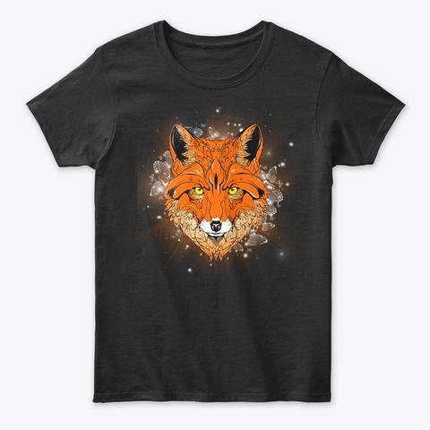 Fox Style Black T-Shirt Front