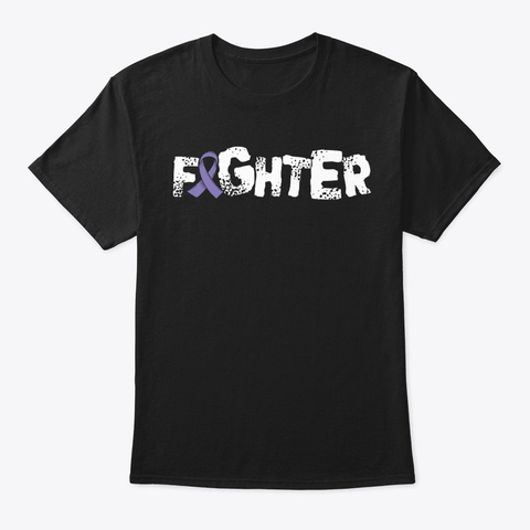 Fighter | Hodgkins Lymphoma Cancer Black T-Shirt Front