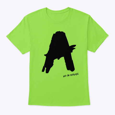 No A Holes™ Grunge Logo Lime T-Shirt Front