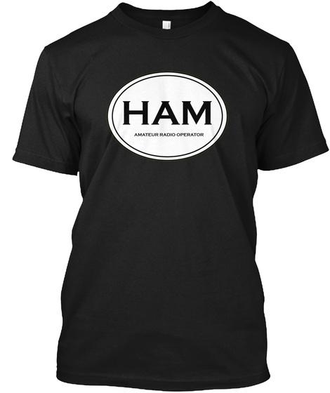 Ham Amateure Radio Black T-Shirt Front