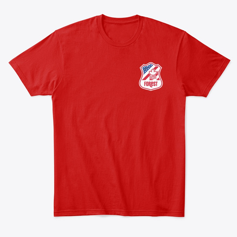 North America Logo Tee Classic Red T-Shirt Front
