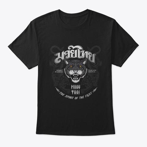 Muay Thai Martial Arts Mai Thai Black T-Shirt Front