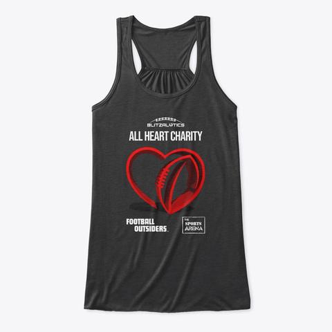 Blitzalytics' All Heart Charity Apparel  Dark Grey Heather T-Shirt Front
