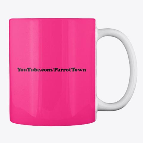 I Heart Parrot Town Groovy Mug Hot Pink Mug Back