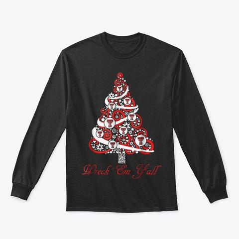 Texas Tech Red Raiders Christmas Tree Black T-Shirt Front