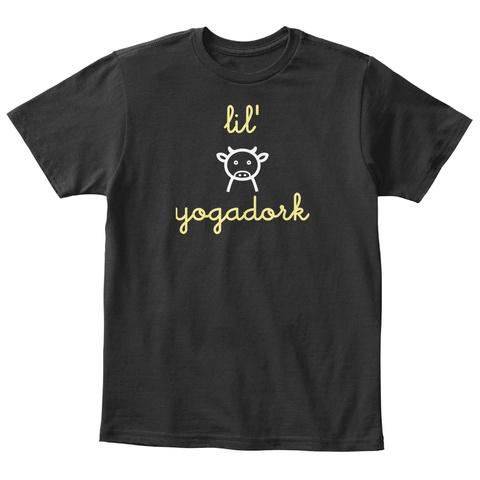 Lil Yogadork Black T-Shirt Front