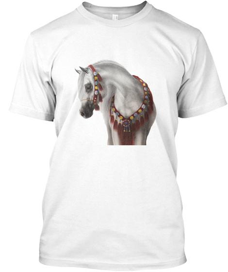Cute Horse Art By @Elena Ruxi White T-Shirt Front