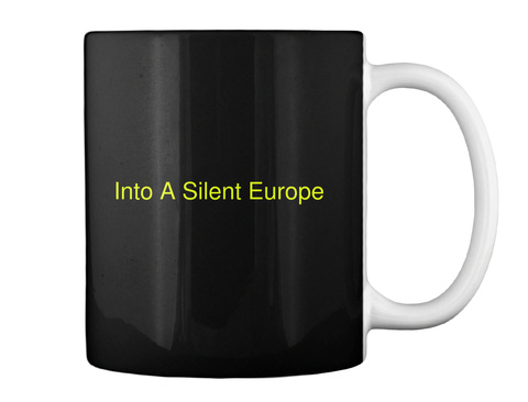 Into A Silent Europe Black T-Shirt Back