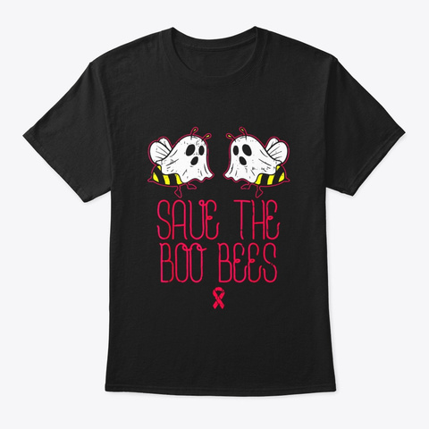 Save The Boo Bees Shirt Breast Cancer Black T-Shirt Front