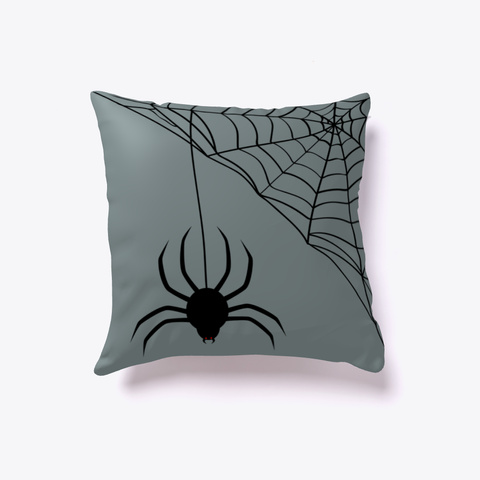 Halloween Spider Web Medium Grey T-Shirt Front