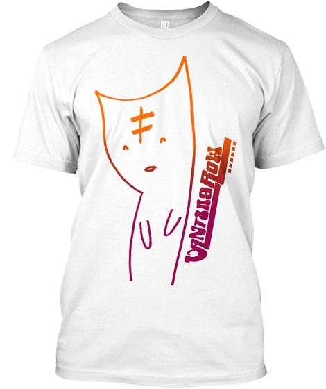 Vantana Row : Unequal Cat White T-Shirt Front