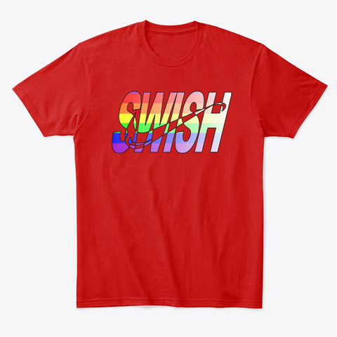 Swis Hrainbow Classic Red T-Shirt Front