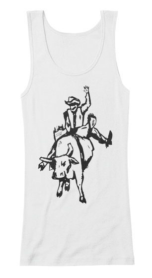 Spur One Women's Fitted Tank White T-Shirt Front