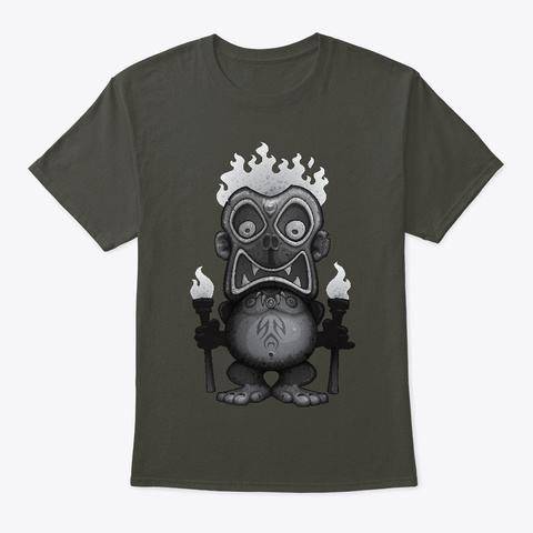 Tiki Munkee Smoke Gray T-Shirt Front