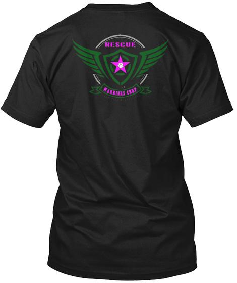 Rescue Warriors Camp Black T-Shirt Back