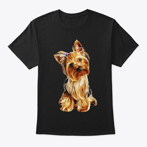 Yorkshire Terrier Light Black T-Shirt Front