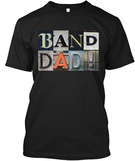 Band Dad! Black T-Shirt Front