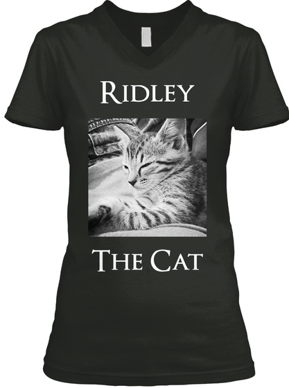 Ridley The Cat Black T-Shirt Front