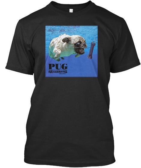 Pugvana Black T-Shirt Front
