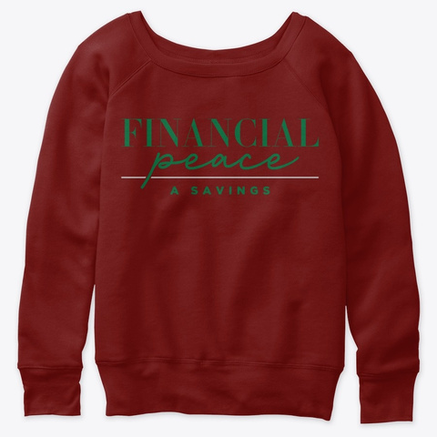 Financial Peace A Savings Dark Red Triblend T-Shirt Front