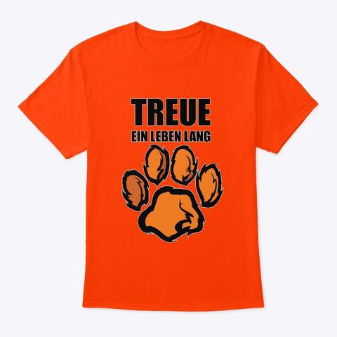 """T Shirt """"Pfote"""" Orange T-Shirt Front"""
