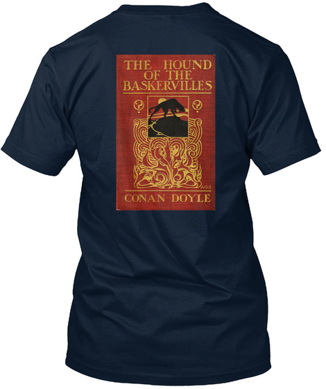 The Hound Of The Baskervilles Book Cover New Navy T-Shirt Back