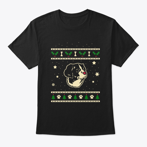Christmas Drentse Patrijshond Gift Black T-Shirt Front